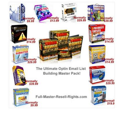 Product picture THE MASSIVE OPTIN LIST BUILDING PACKAGE RESALE RIGHTS